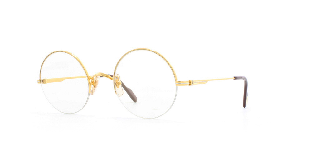3606b0cd67 Cartier Mayfair T8100.108 GLDGL Gold Certified Vintage Round Sunglasses For  Mens and Womens
