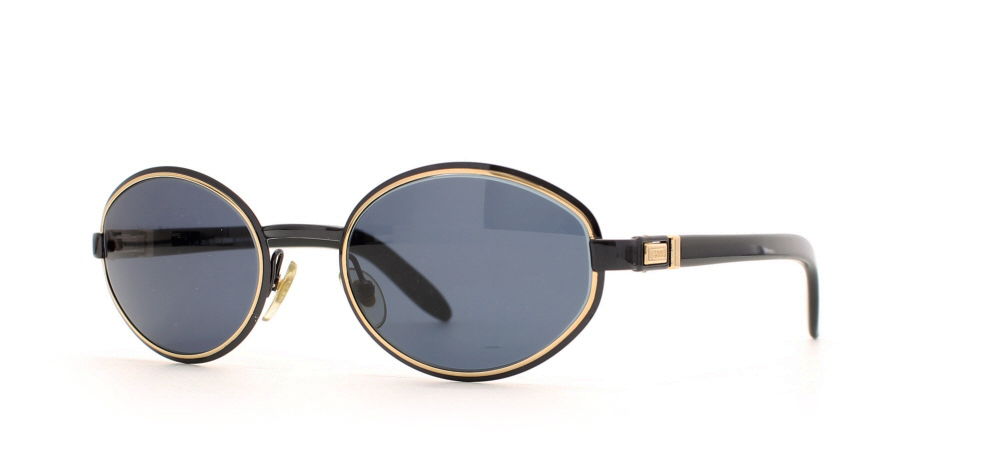 6e6073aadc9 Gianfranco Ferre 469 7JU Gold Certified Vintage Round Sunglasses For Womens