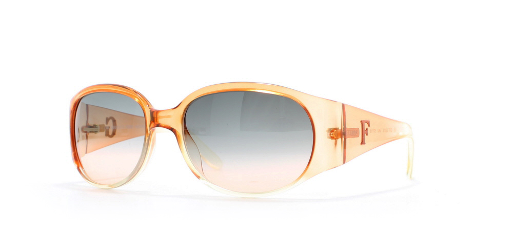 e415334c01f Gianfranco Ferre 533 V6U Orange Certified Vintage Rectangular Sunglasses  For Womens