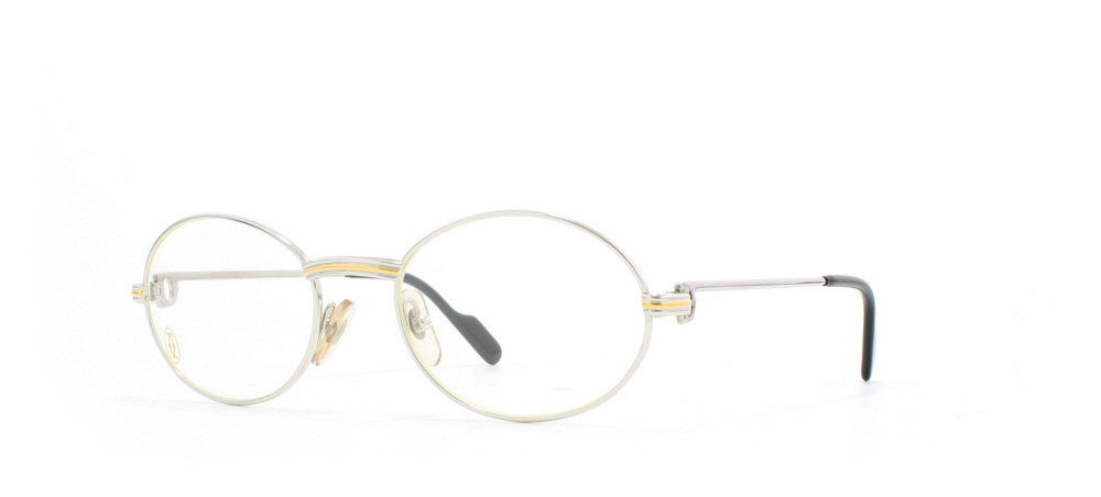 27763eb813bd1 Cartier St Honore T8100.266 PLT Silver Certified Vintage Oval Eyeglasses  Frame For Mens and Womens