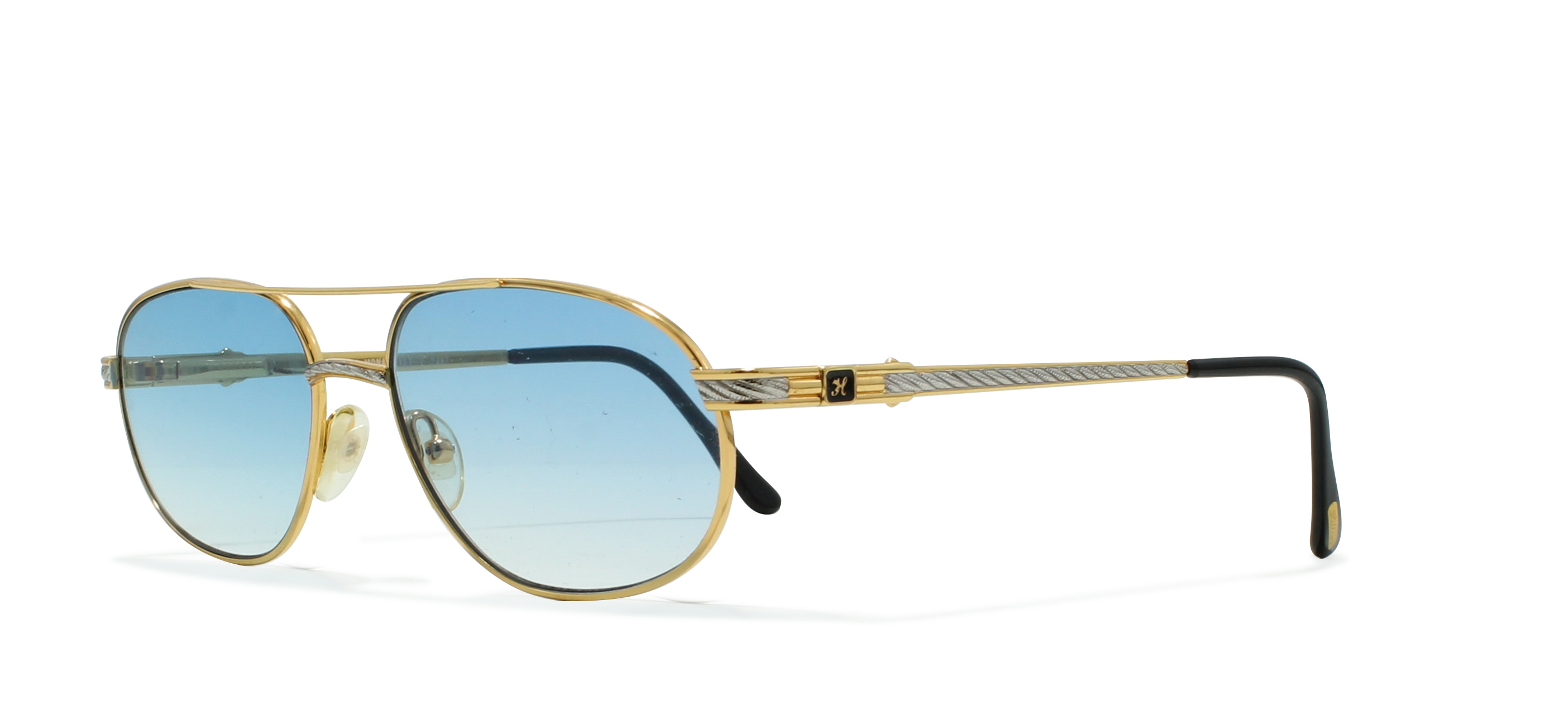 bcbc5e9b4c Hilton Monaco 307 1 Gold Vintage Sunglasses Rectangular For Men and Women